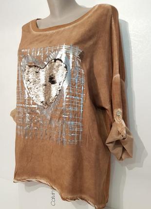 Ультрамодная блуза в стиле бохо your&self вискоза италия оверсайз4 фото
