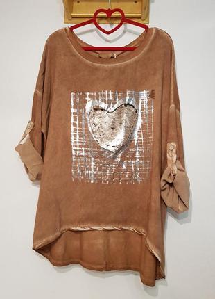 Ультрамодная блуза в стиле бохо your&self вискоза италия оверсайз6 фото