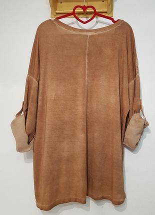 Ультрамодная блуза в стиле бохо your&self вискоза италия оверсайз7 фото