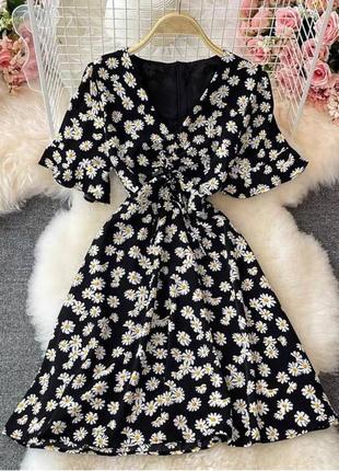 Платье , платье в горошек , платье миди  , романтичное платье