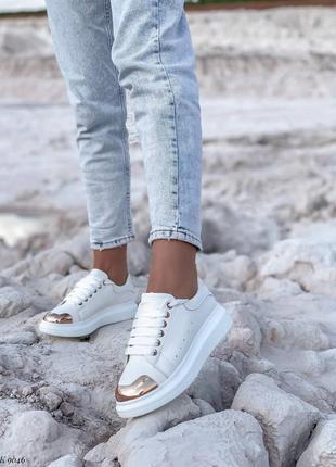 Кроссовки с золотым передом