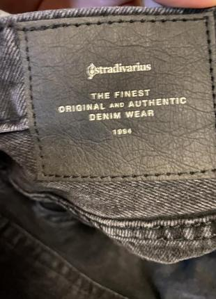 Stradivarius джинсы штаны мом высокая талия посадка2 фото