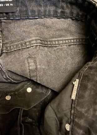 Stradivarius джинсы штаны мом высокая талия посадка4 фото