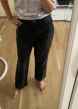 Stradivarius джинсы штаны мом высокая талия посадка5 фото
