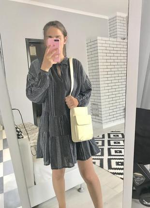 Актуальное платье свободное буфи ярусное