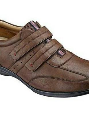 Мужские туфли trustule  на липучках и воздушной подушке.6 фото