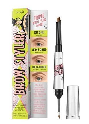 Карандаш и тени для бровей 2в1 brow styler eyebrow pencil & powder duo от benefit
