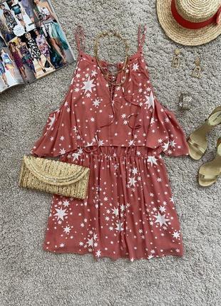 Распродажа!!! актуальное платье футболка с воланами и шнуровкой №429