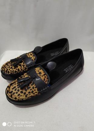 Кожаные туфли мокасины hotter comfort concept
