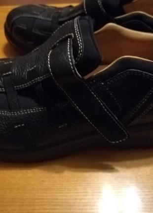 Женские кожаные ортопедические туфли5 фото