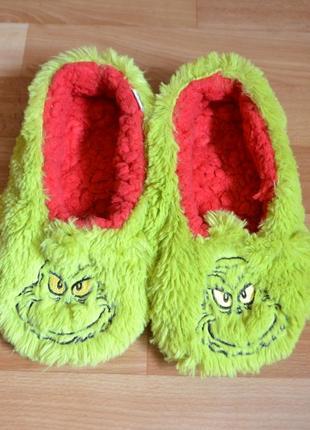 Тапочки носочки, носки гринч, стелька 24 см