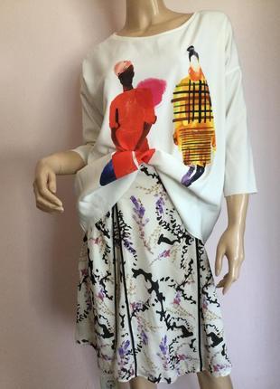 Шикарная стильная блузка/м/brend zara