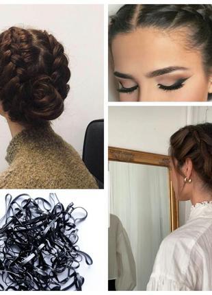Резинки 150 штук для волос причесок плетения кос