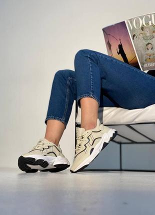 Женские кросовки adidas ozweego white milk