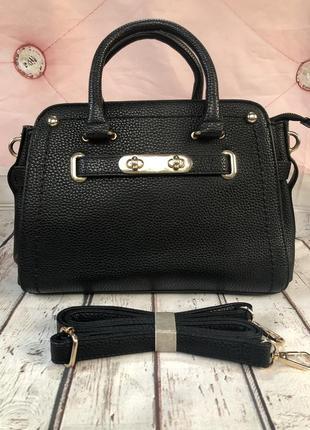 Женская сумка среднего размера новая чёрная