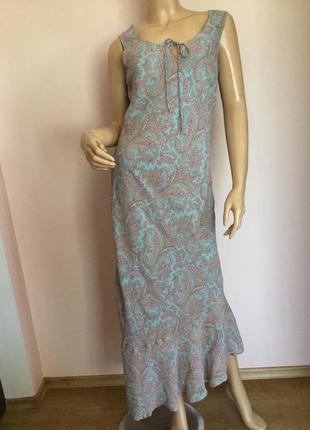 Вискозное длинное платье от бренда monsoon /xl/