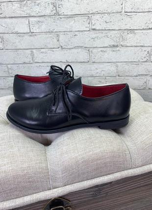 36-41 рр туфли на шнурках низкий ход натуральная кожа/замша4 фото