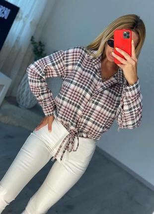 Женская шерстяная рубашка