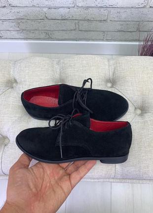 36-41 рр туфли на шнурках низкий ход натуральная кожа/замша7 фото