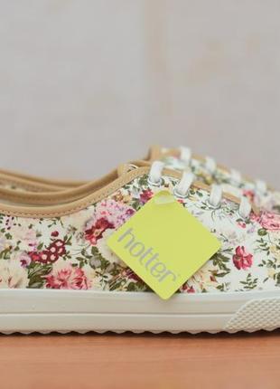 Женские кеды, кроссовки в цветочный принт hotter, 41 размер. оригинал