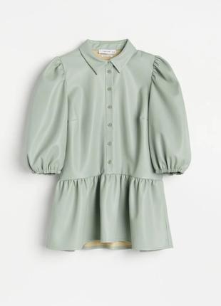 Кожаная блуза, рубашка