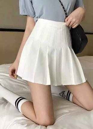 Тренд 2021 юбка тенниска хс , s , m , l белая, серая, черная  белый  код274.