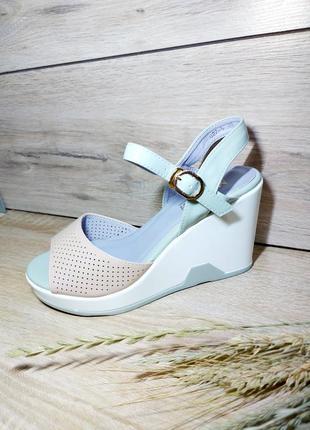 Босоножки пастельные  🌿 танкетка платформа сланцы сандалии сабо