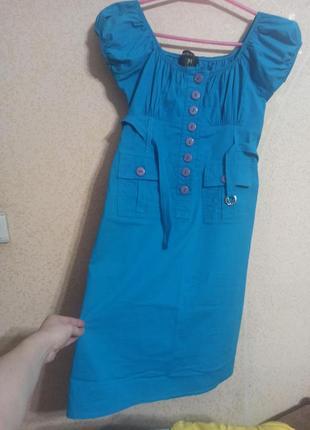 Платье рубашка миди хлопок сарафан сукня плаття м-l