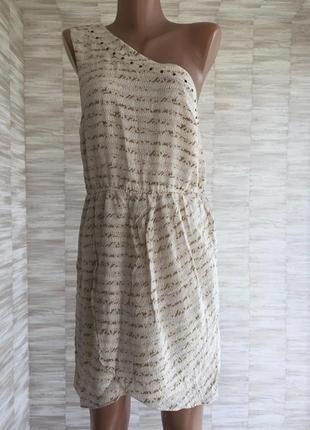 Платье сарафан с открытым плечом натуральный шёлк wish