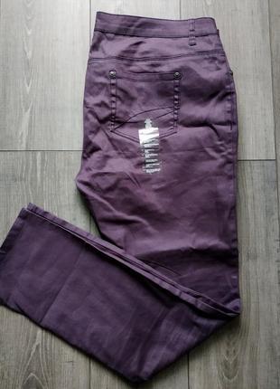 Джинсы фиолетовые с пропиткой большой размер tcm tchibo