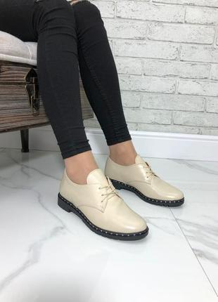 36-41 рр туфли на шнурках низкий ход натуральная кожа/замша