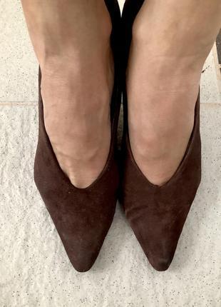 Туфли via spiga, замша, размер 36