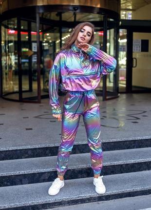 Женский костюм единорог цвета хамелеон