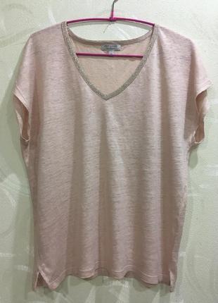 Monsoon шикарная футболка блузка 100 лен р-р.m