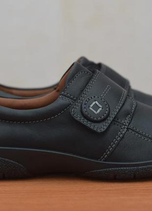 Черные женские кожаные кроссовки на липучках hotter, 38.5 размер. оригинал