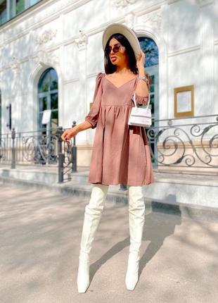 Платье женское мокко