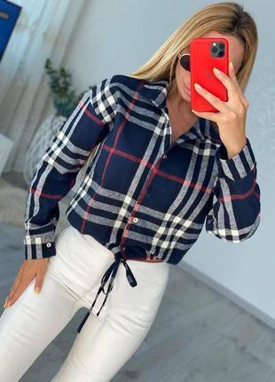 Рубашка в клетку женская шерстяная шерсть оверсайз