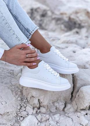 Рр36-41 кроссовки кросы белые