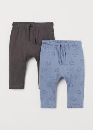 Тонкие хлопковые штаны h&m на 2-3, 3-4 года