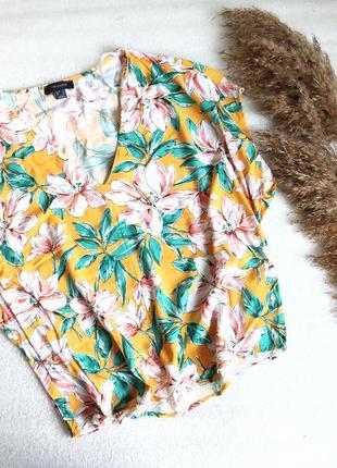 ✨шикарна , натуральна блуза , вільного крою, в квіти , віскоза✨