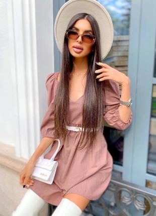 Женское платье льняное