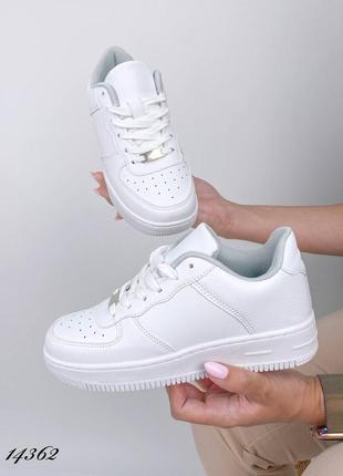 Кроссовки белые женские форс