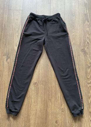 Брюки спортивные джогеры, чёрные спортивные штаны, штани спортивні джогери