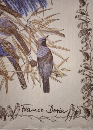 Franco doria винтажный шелковый платок