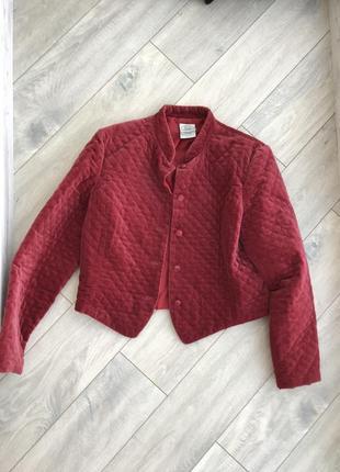 Куртка пиджак красный