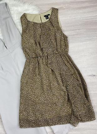 Красивое платье в анималистический принт h&m