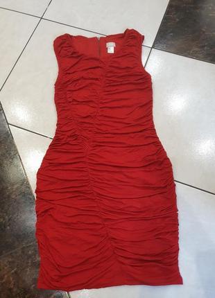 Платье красное сукня вечернее бандажное