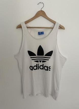 Майка футболка adidas белая мужская оригинал