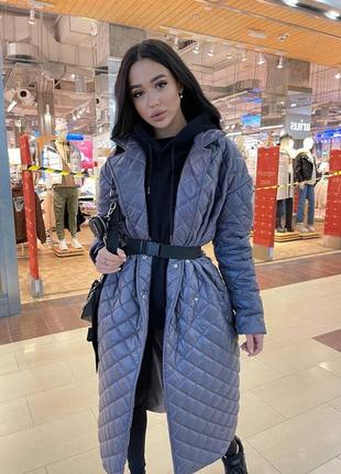 Стёганное пальто на утеплителе -  ❤️ верх из непромокаемой плащевки, утеплитель тинсул , подклад из сатина