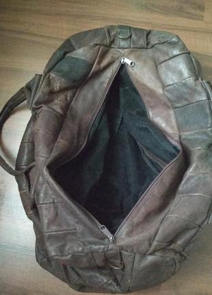 Дорожная сумка кожа винтаж